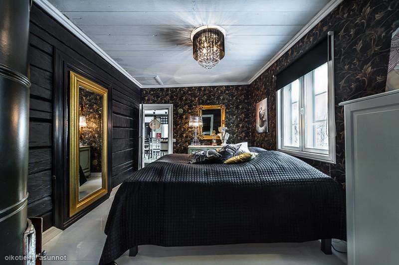 Renowacja starej chaty bajkowe wn trza Decoration noir or luxe classe