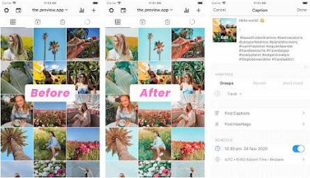 Aplikasi instagram planner - preview