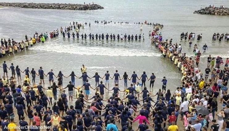 Bautismo de playa de brasil