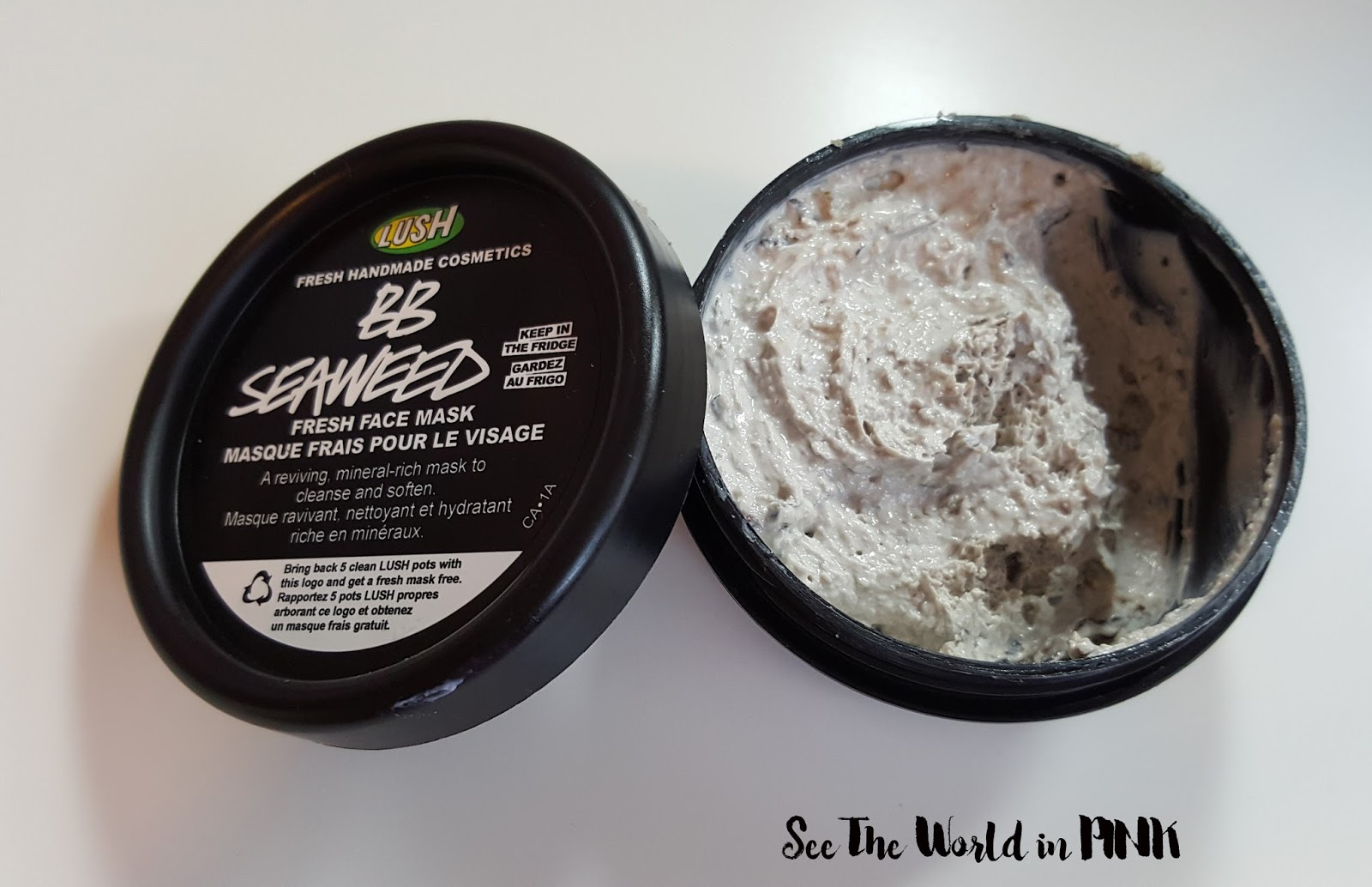 lush fresh face mask bb seaweed