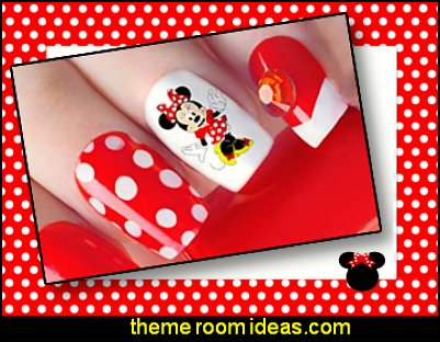 Mickey Mouse & Minnie Mouse Waterslide Nail Art Decals   minnie mouse nails