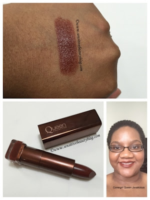 Covergirl Queen Lipstick in Javalicious Swatched on dark skin