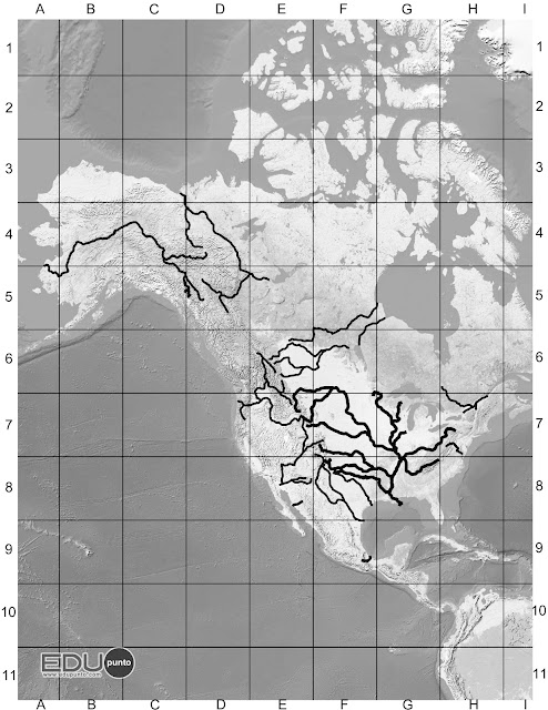 hidrografia, america del norte, norteamerica, rio, cuenca, AMERICA, golfo, itsmo, tehuantepec