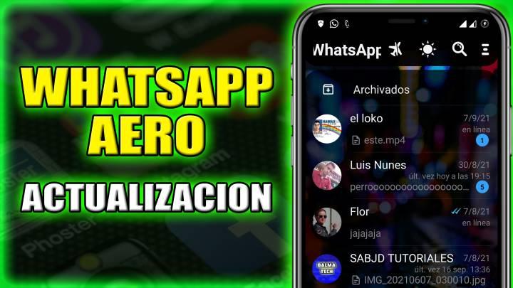 Nueva actualización WhatsApp Aero v8.95 disponible