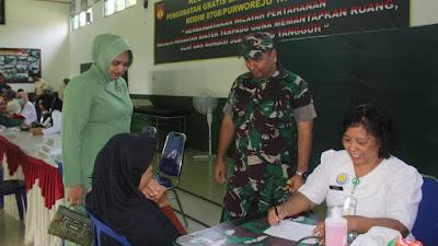 Pererat TNI dengan Rakyat Kodim Purworejo Laksanakan Binter Terpadu