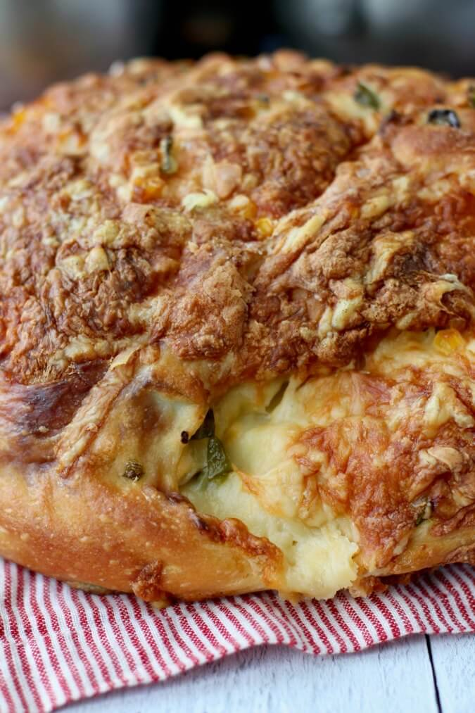 Jalapeño Cheese Bread crust