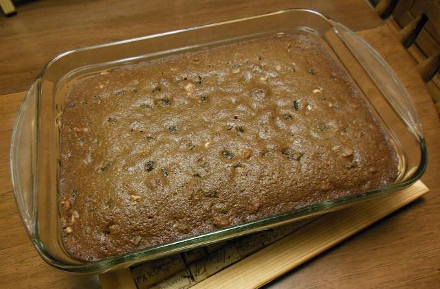 Raisin Walnut Snack Cake, delicious!