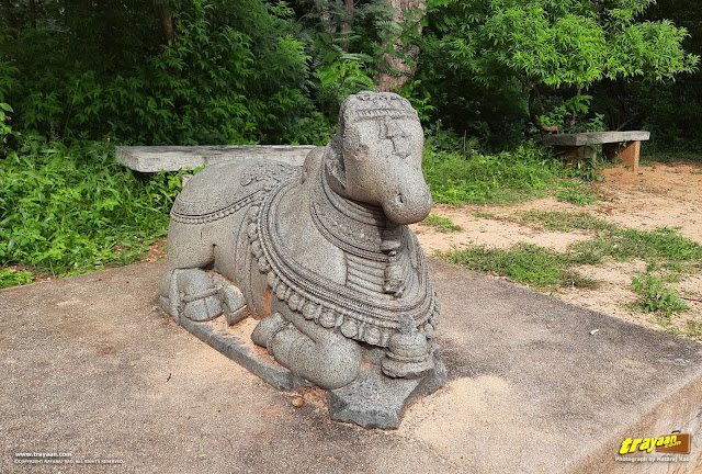 Nandi sculpture near Namada Chilume