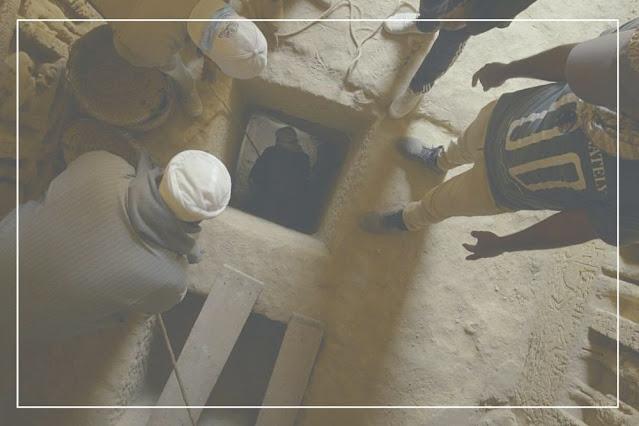 escavação na tumba de Wahtye em Saqqara. Documentário Os Segredos de Saqqara.