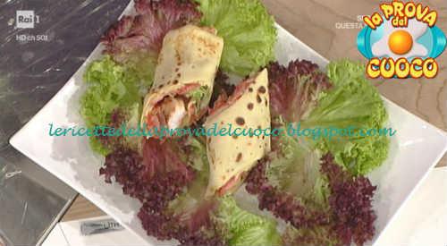 Prova del cuoco - Ingredienti e procedimento della ricetta Crespelle con crema di ceci e gamberi di Daniele Persegani