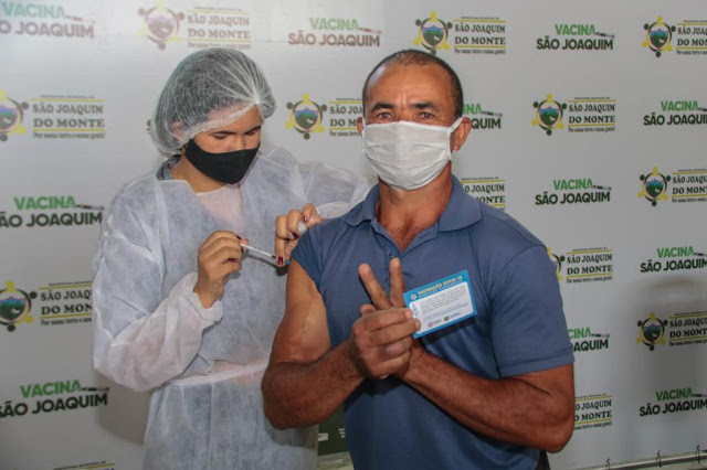 LOCAL: São Joaquim do Monte em 1º lugar na vacinação do Agreste de Pernambuco