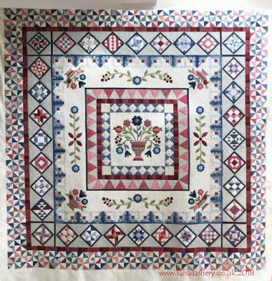 Porcelain Petals quilt , made by Alyson Wells,  quilted by Frances Meredith, Fabadashery Longarm Quilting