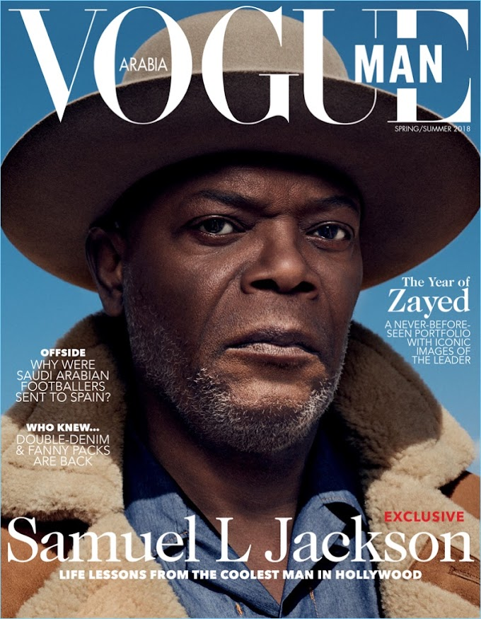 Life Lessons from the Coolest Man in Hollywood! Samuel L Jackson covers Vogue Man Arabia