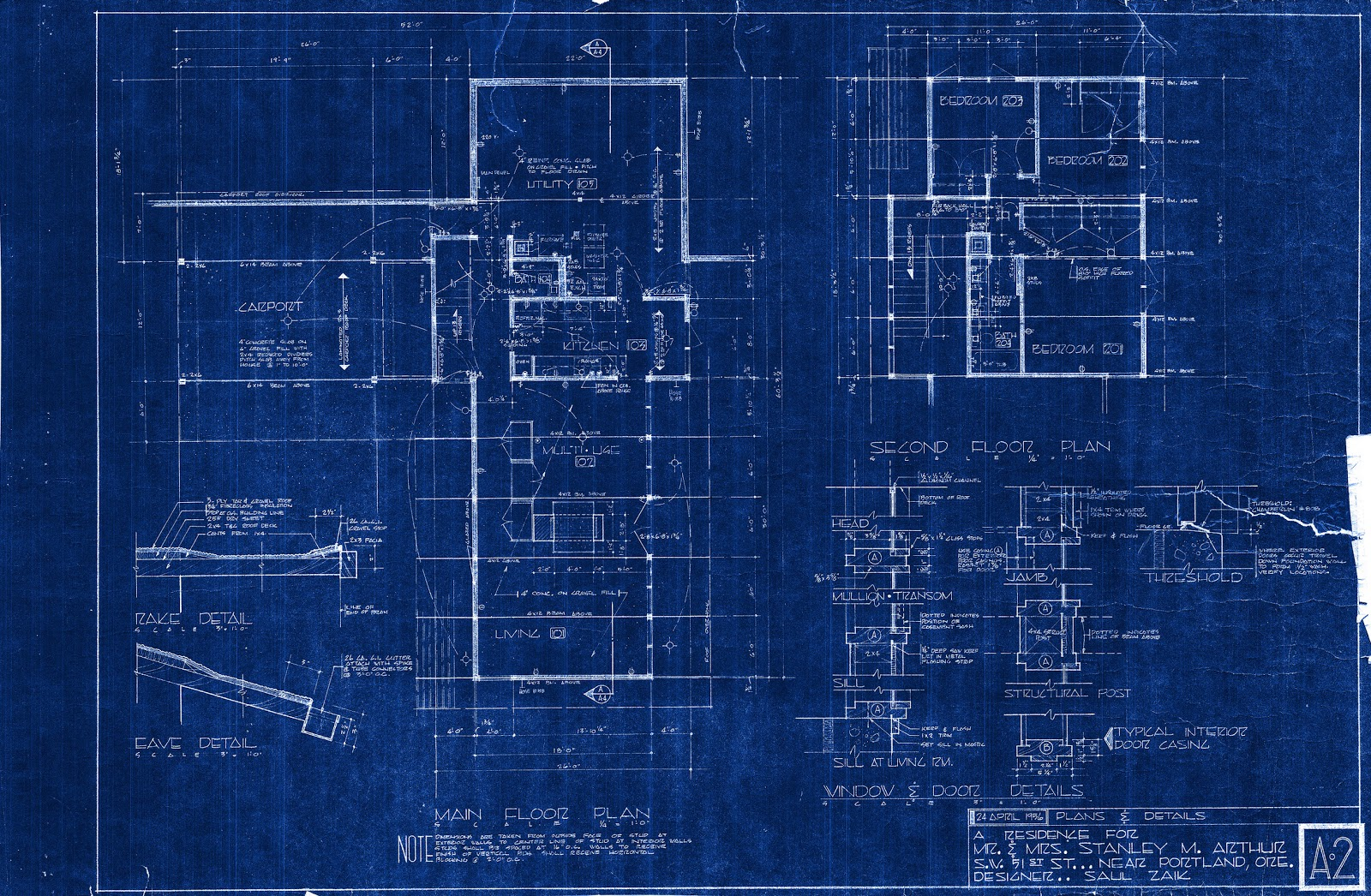 Floor Plan Blueprint Scraping The 80 S Off A Mid Century Saul Zaik The
