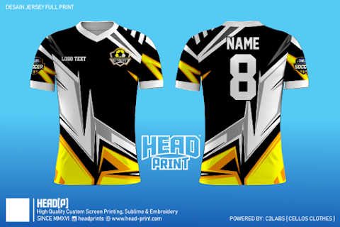 Flash Black Yellow Jersey Full Print Custom - Head Print
