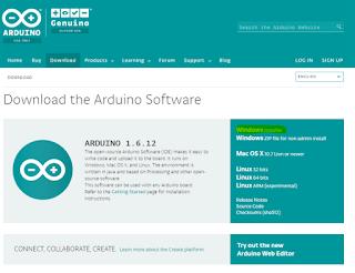 Pagina web oficial de Arduino