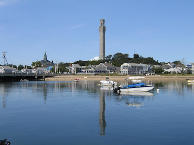 Provincetown Inner Harbor showing Pilgrim Monument, Sept 2012