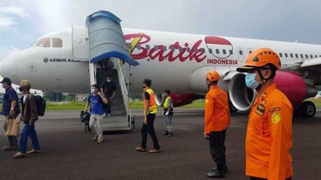 Pesawat Batik Air yang Mendarat Darurat di Jambi Berhasil Dievakuasi