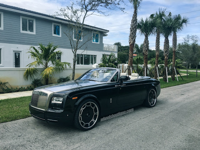 Rolls-Royce Drophead Coupe on Giovanna Wheels - #RollsRoyce #Drophead #Coupe #Giovanna #Wheels #tuning