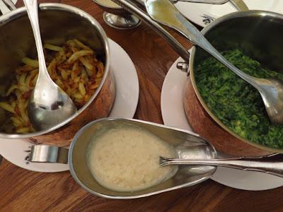 Kaiserhaus, spinach rosti horseradish