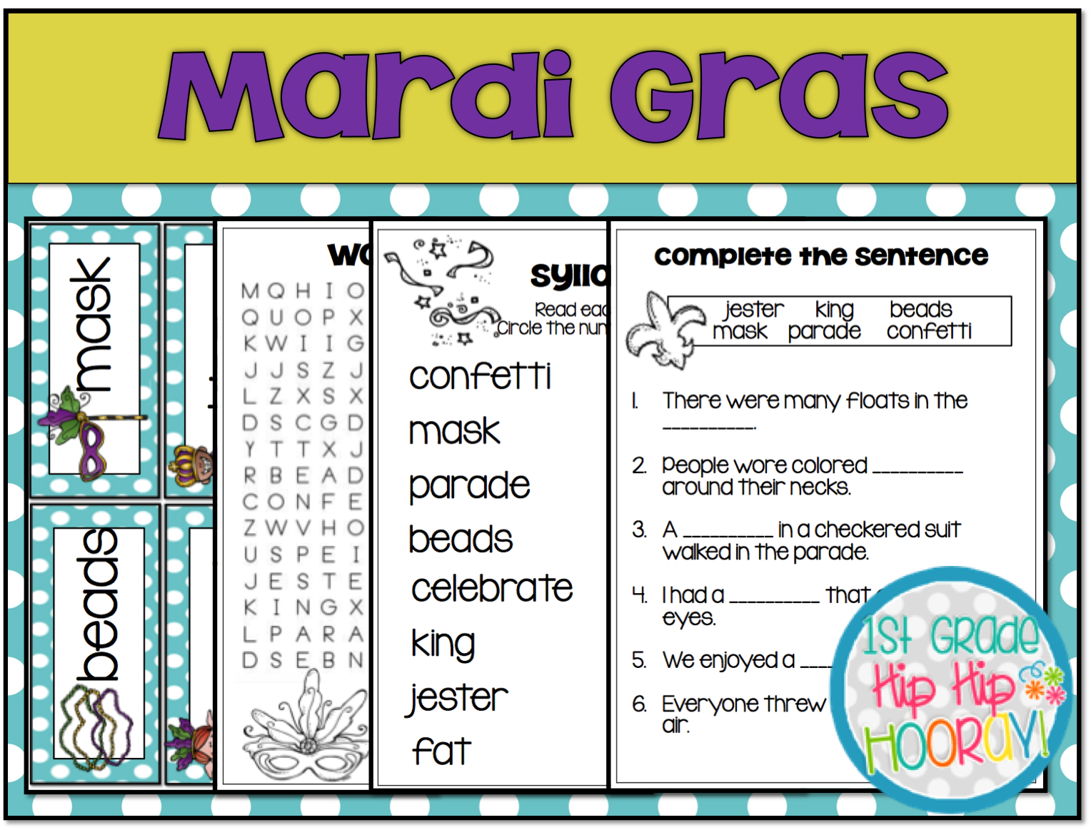 worksheet Mardi Gras Worksheets 1st grade hip hooray mardi gras celebration february 13th your class will enjoy celebrating gras