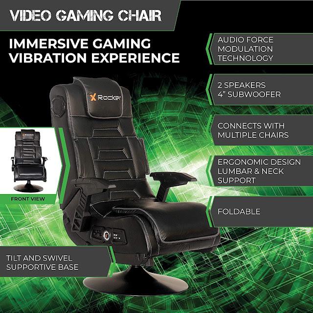 X Rocker Pro Series Wireless Pedestal 2.1 Gaming Chair