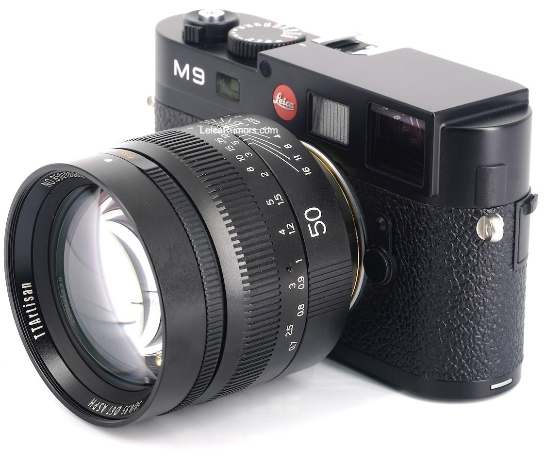 Объектив TTartisan 50mm f/0.95 с камерой Leica