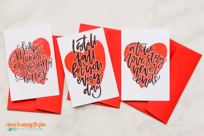 Handwritten Valentines Day Cards