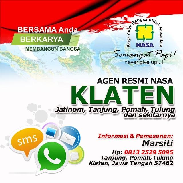 Alamat Agen Nasa Wilayah Tanjung, Pomah, Tulung, Klaten | Agen Resmi Nasa