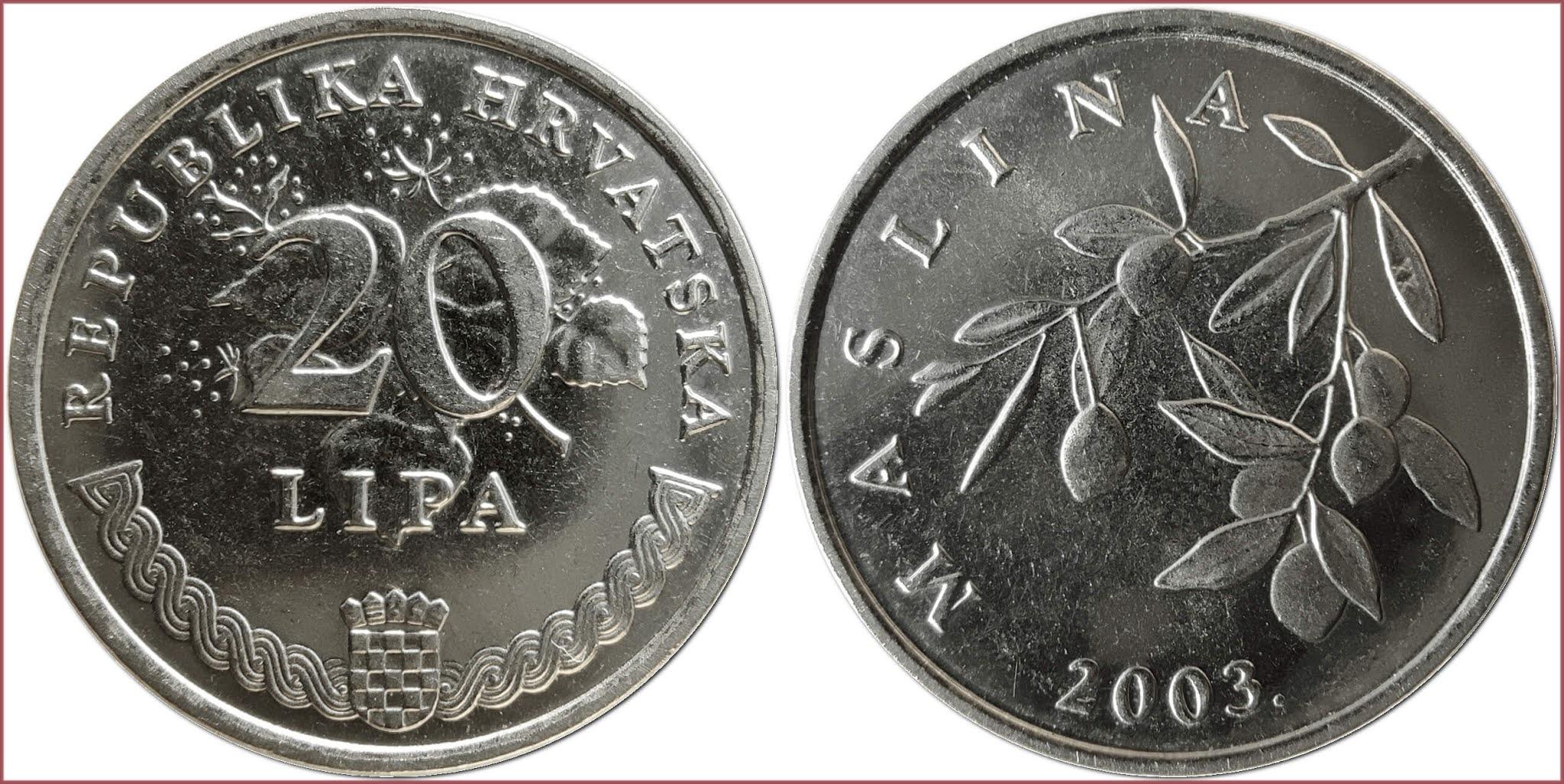 20 lipa, 2003: Republic of Croatia (Croatian text)
