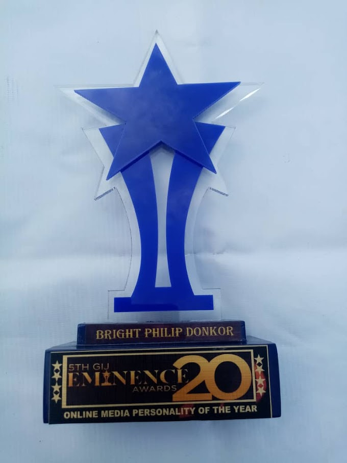 Bright Philip Donkor wins 2020 GIJ Eminence Awards Online Media Personality of the Year