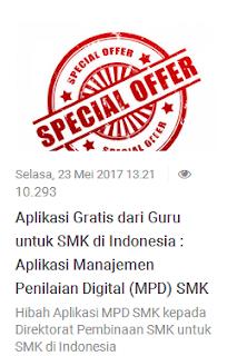 Mengenal Apa itu Aplikasi MPD SMK