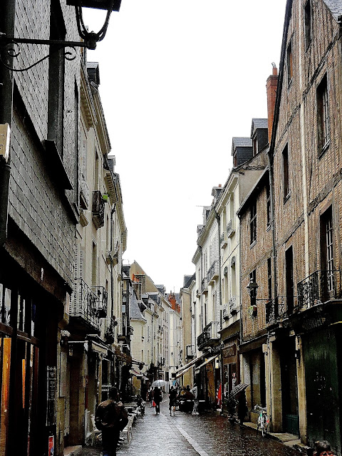 Old fashioned street in Tours, France