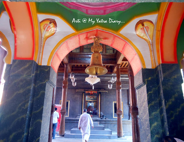 The snake painting in the pavillion of the Bhairavnath temple, Saswad, Pune, Maharashtra