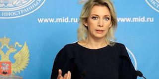 La portavoce del Ministero degli esteri russo Maria Zakharova