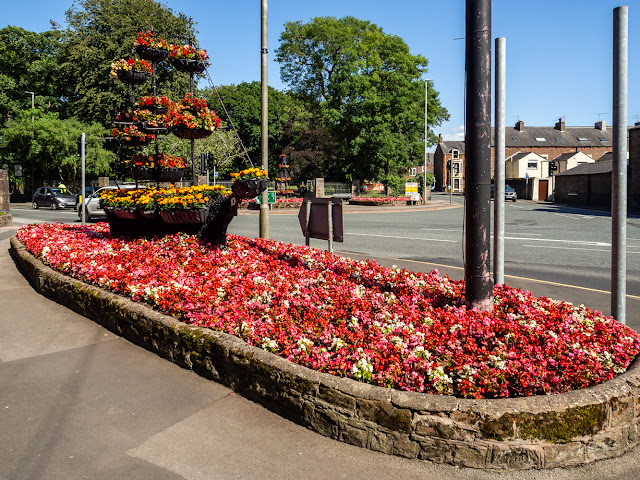 Photo of the floral display at Netherall Corner in Maryport
