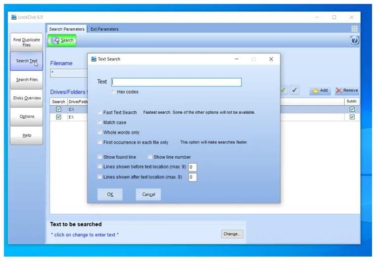 LookDisk :  Δωρεάν εφαρμογή αναζήτησης κειμένου ή αρχείων