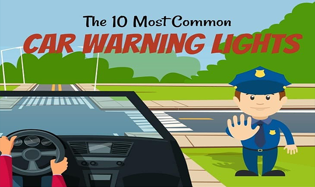 The 10 Most Common Car Warning Lights #infographic
