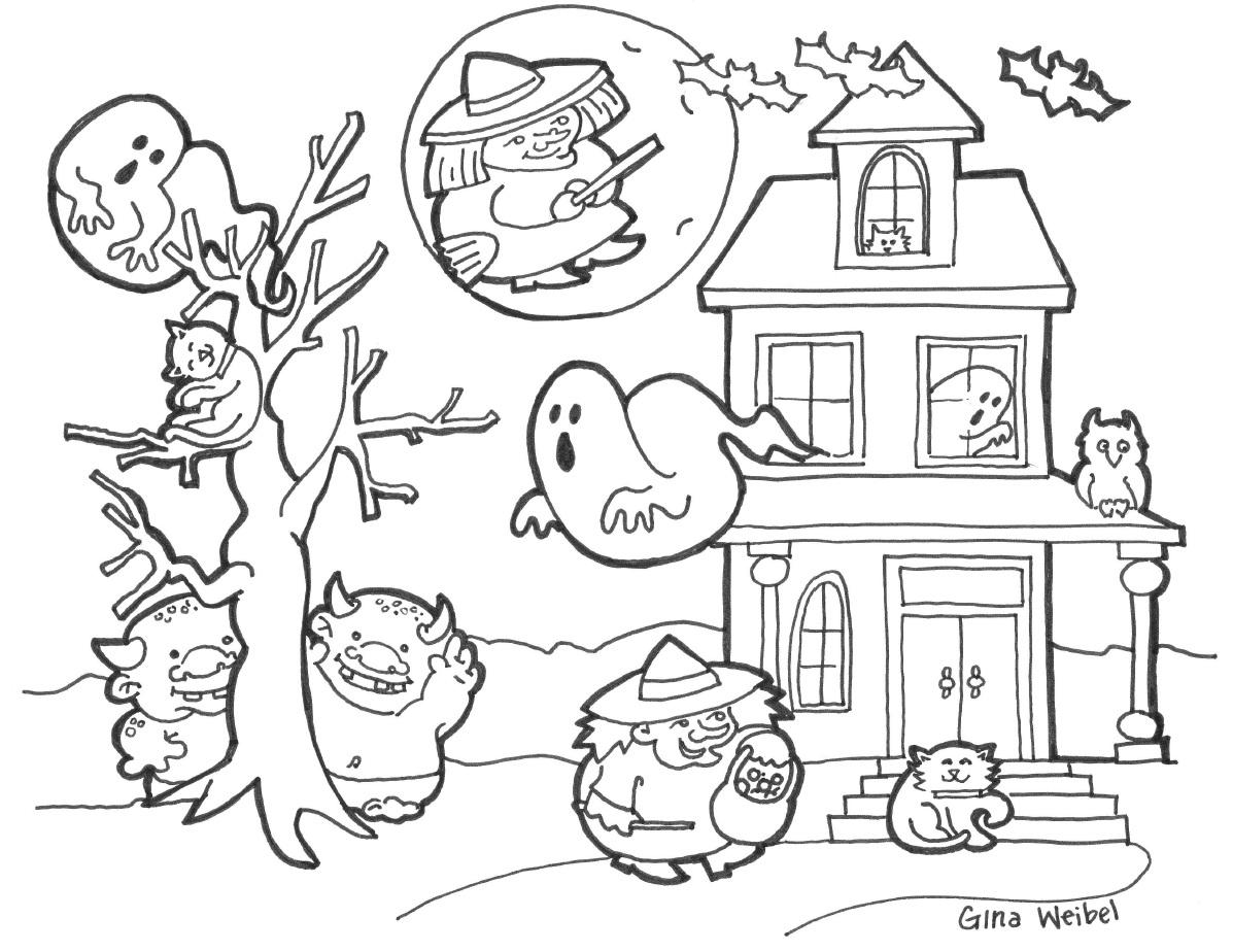haalloween coloring pages | Desenhos para Colorir e Imprimir: Desenhos do Halloween ...