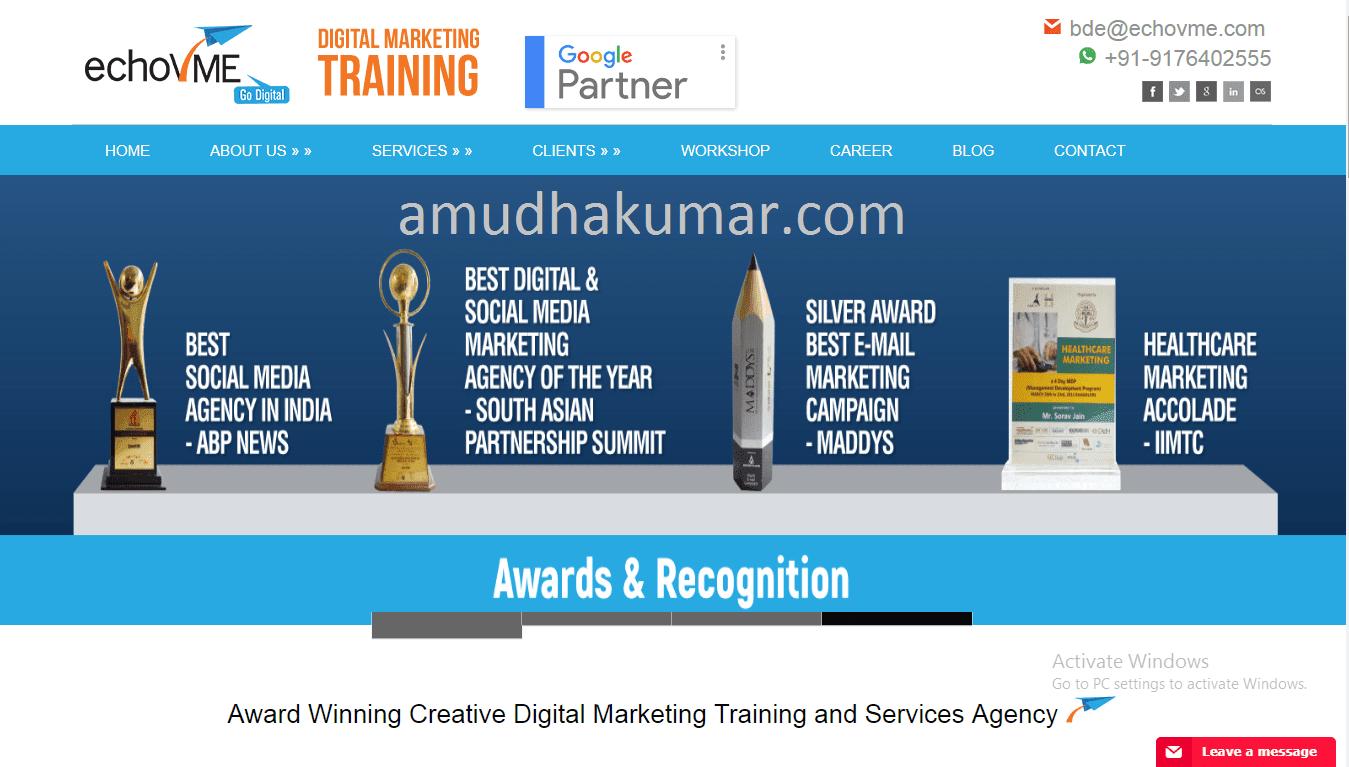 Echo VME Digital Marketing Training Institute in Chennai