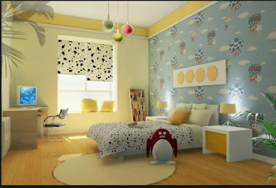 Desain Motif Wallpaper Kamar Tidur Anak Terbaik 2018 14