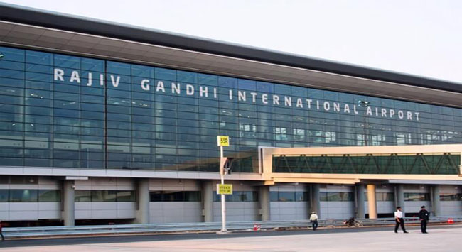 Rajiv Gandhi Airport In Hyderabad