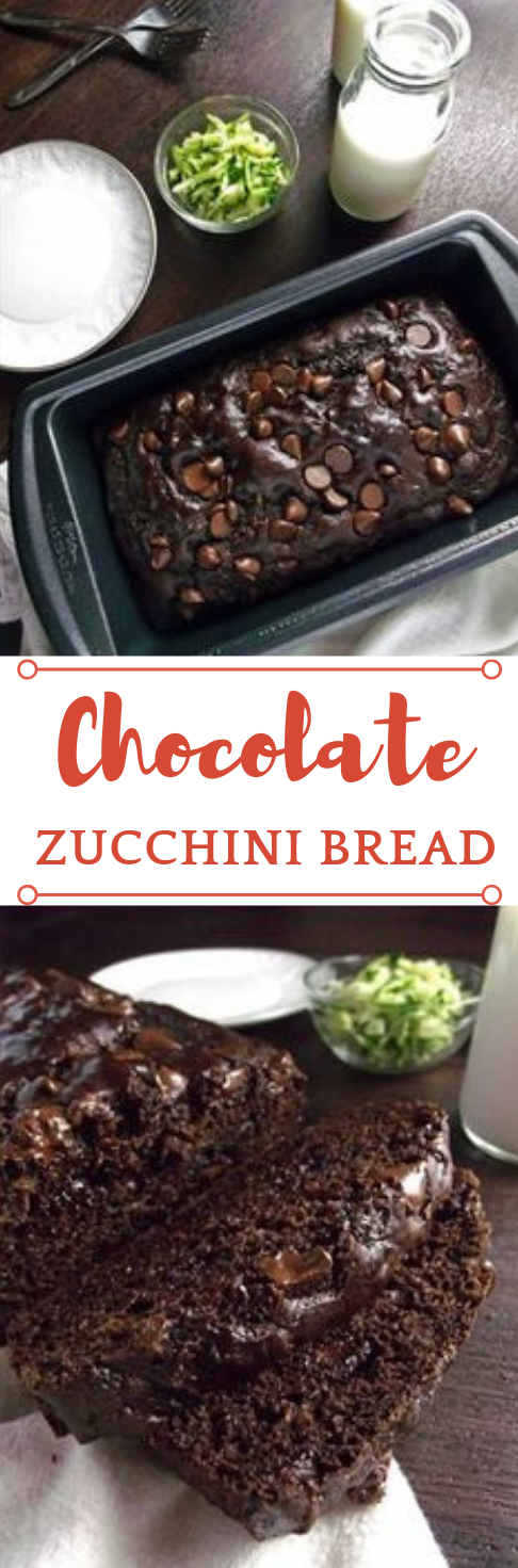 HEALTHY CHOCOLATE ZUCCHINI BREAD #chocolate #healthy #desserts #cakes #brownies