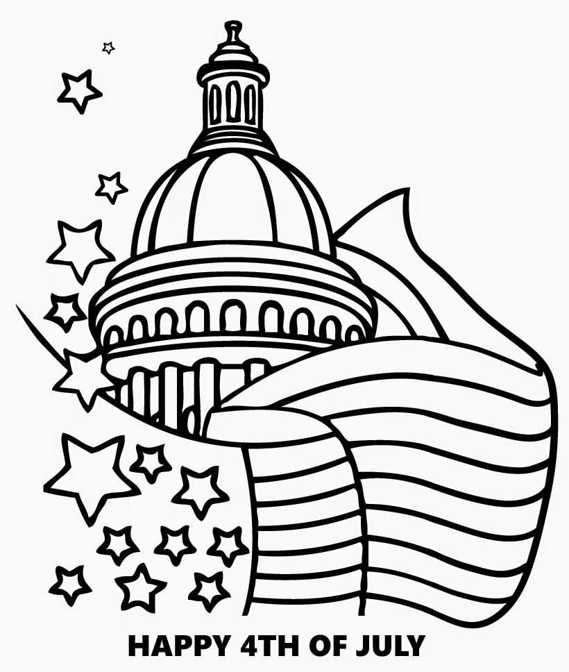 ImagesList.com: Independence Day Usa for Coloring, part 3