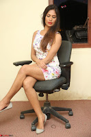 Nishi Ganda stunning cute in Flower Print short dress at Tick Tack Movie Press Meet March 2017 267.JPG