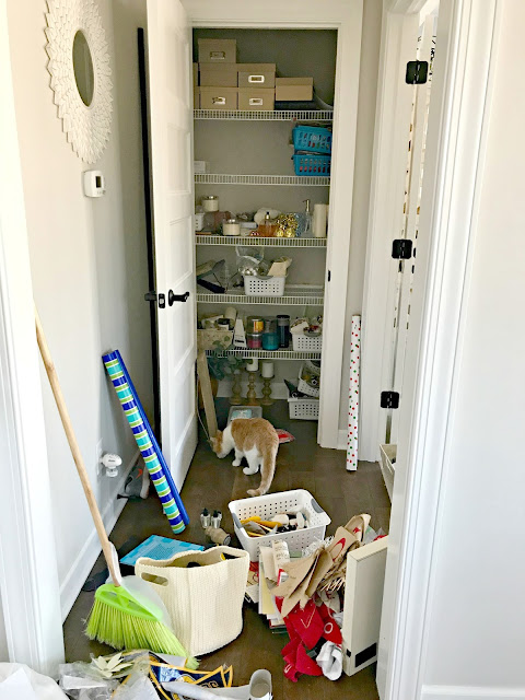 Monica closet before and after