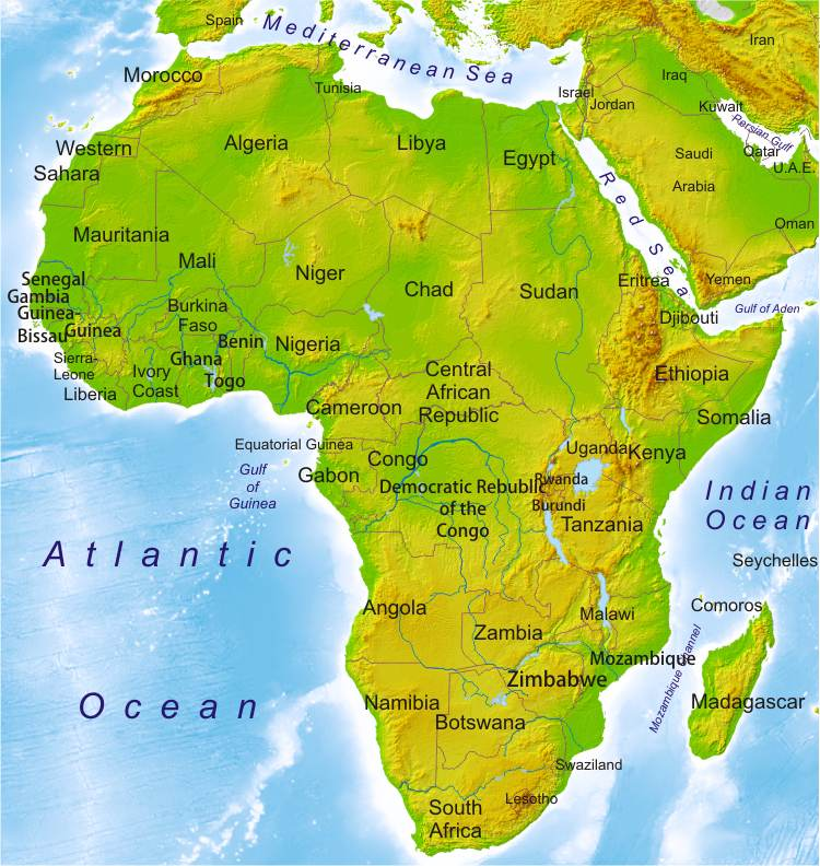 map to africa