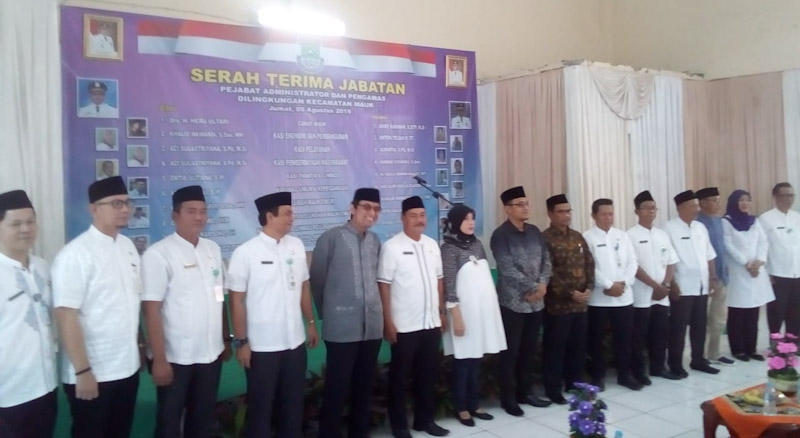 Kecamatan Mauk Gelar Sertijab Pejabat Admintrator Dan Pengawas