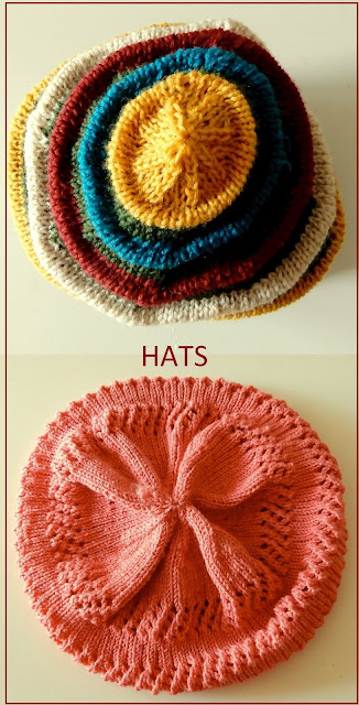 Two hat knitting patterns