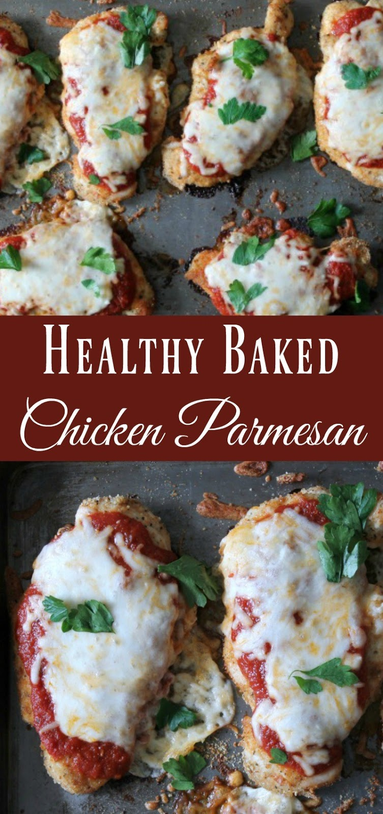 Healthy And Easy Baked Chicken Parmesan